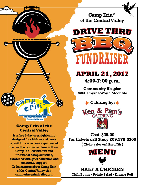 bbq fundraiser flyer community hospice foundation