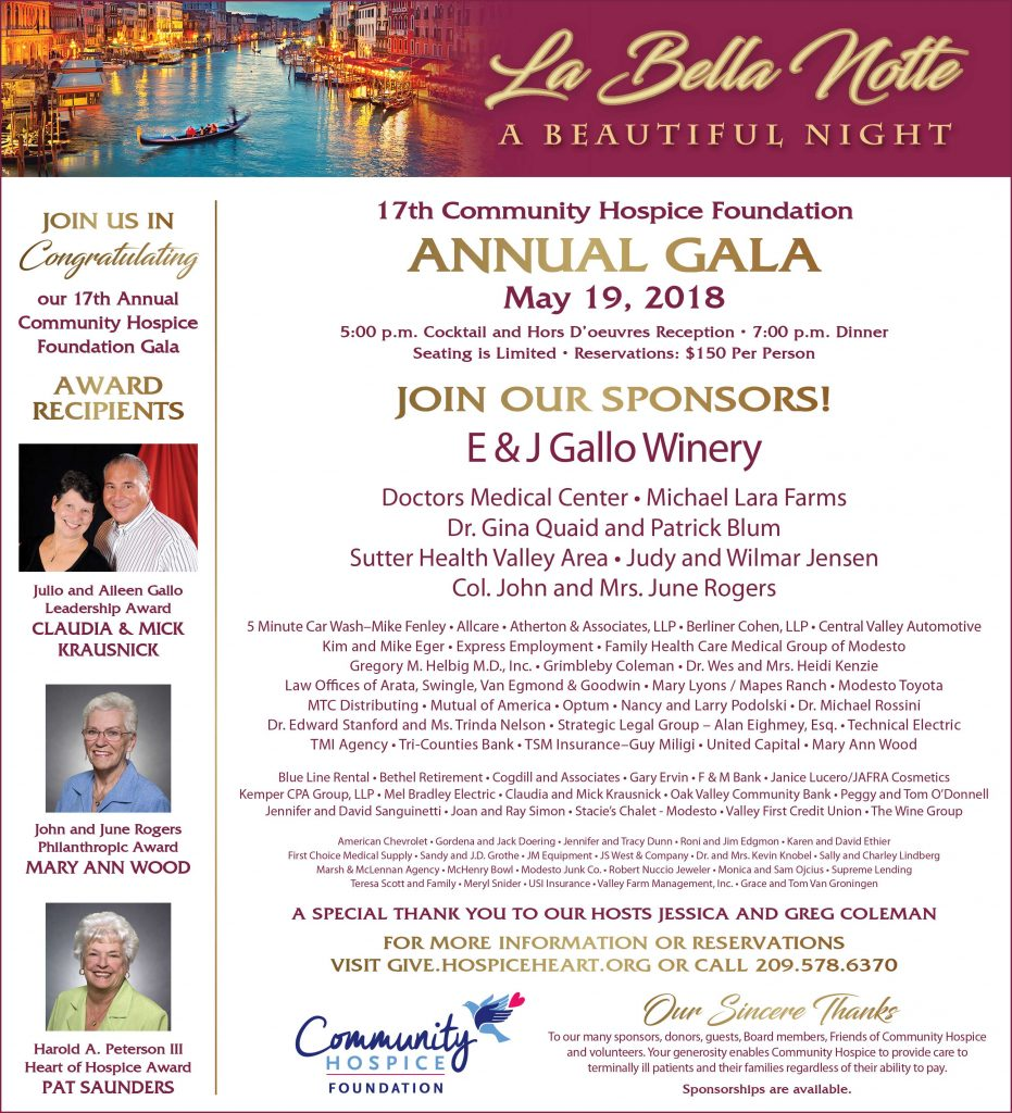 Andrew Author At Community Hospice Foundation Page 2 Of 15 Member Jafra 2018 Gala Sponsors